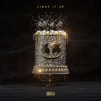 Marshmello, Tyga, Chris Brown - Light It Up notas para el fortepiano