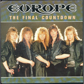 Europe - The Final Countdown notas para el fortepiano