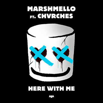 Marshmello, Chvrches - Here With Me notas para el fortepiano