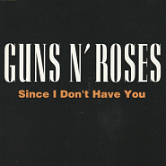 Guns N' Roses - Since I Don't Have You notas para el fortepiano