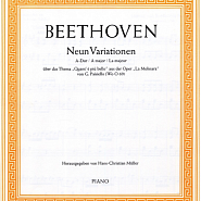 Ludwig van Beethoven - Nine Variations on an Aria by Paisiello notas para el fortepiano