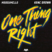 Marshmello etc. - One Thing Right notas para el fortepiano