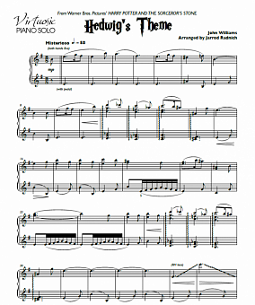 John Williams - Hedwig's Theme notas para el fortepiano