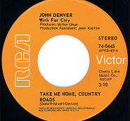 John Denver - Take Me Home, Country Roads notas para el fortepiano
