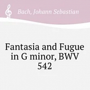 Johann Sebastian Bach - Great Fantasia and Fugue in G minor, BWV 542 notas para el fortepiano