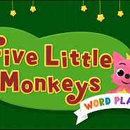 Pinkfong - Five Little Monkeys notas para el fortepiano
