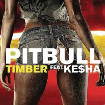 Pitbull, Ke$ha - Timber notas para el fortepiano
