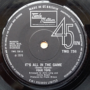 The Four Tops - It's All In The Game notas para el fortepiano