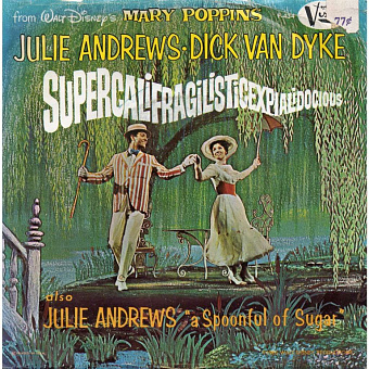 Julie Andrews, Dick Van Dyke - Supercalifragilisticexpialidocious (From Mary Poppins) notas para el fortepiano